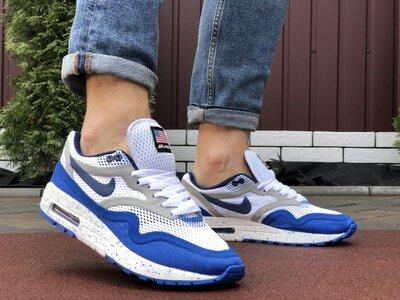 Кроссовки мужские Nike Air Max Zero QS, белые с синим