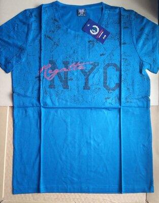 Мужская футболка летняя сине зеленая