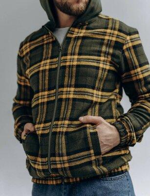 мужская куртка- рубашка c капюшоном -трендовые расцветки