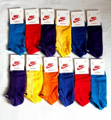 Мужские летние короткие спортивные носки в сетку Nike . 41-45р. 6 пар Турция
