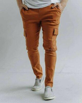 Стильные мужские лёгкие штаны брюки карго котоновве удобные комфортные джинсы