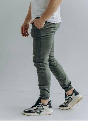 Мужские брюки на манжетах внизу, 3 цвета