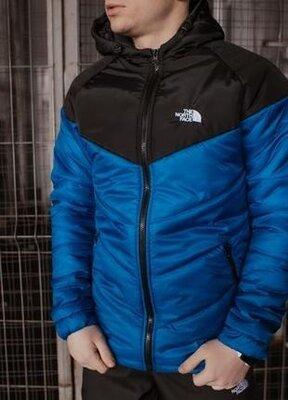 Мужская демисезонная куртка сине-черного цвета the north face