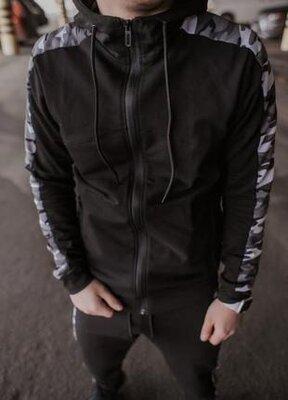 Мужская хлопковая спортивная кофта dazzle черного цвета от intruder