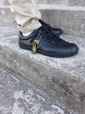 Черные кожаные кроссовки, чорні чоловічі красовки кеди