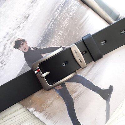 Кожаный мужской ремень Tommy Hilfiger Томми Хилфигер реплика