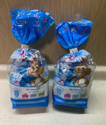 Пасхальные конфетки Hibbi из молочного шоколада с молочной начинкой