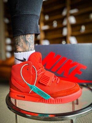 Мужские Кроссовки Nike Air YEEZY 2 SP Red October ААА 40-41-42-43-44-45