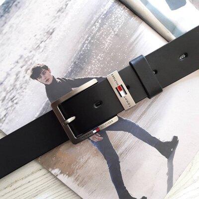 Ремень мужской кожаный Tommy Hilfiger Томми Хилфигер реплика