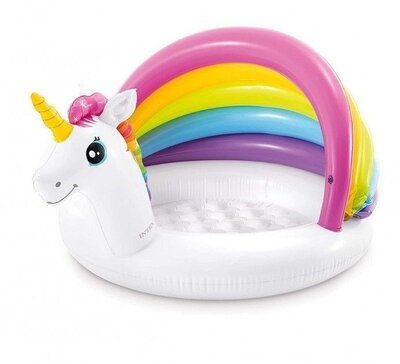 Продано: Надувной бассейн Единорог с навесом Intex 57113