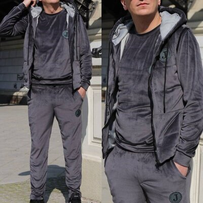 Продано: Спортивный костюм тройка мужской велюровый, размеры 50-58 2цв