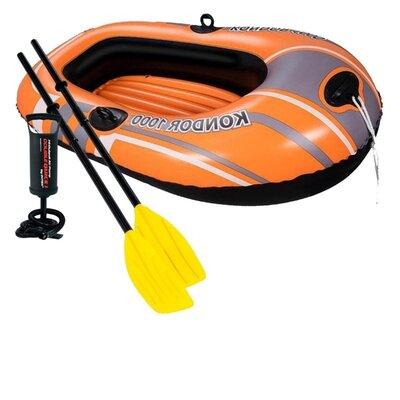 Одноместная надувная лодка Bestway 61099-2, Condor 1000, 155 х 93 см, с веслами и насосом
