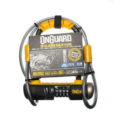 Велозамок кодовий Onguard U-lock 8015C COMBO Mini DT 90x140 Чорний з жовтим LCK-26-04