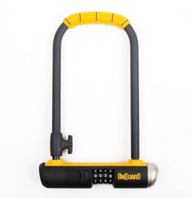 Велозамок кодовий Onguard U-lock 8012C BULLDOG COMBO DT 115x230 Чорний з жовтим LCK-33-12