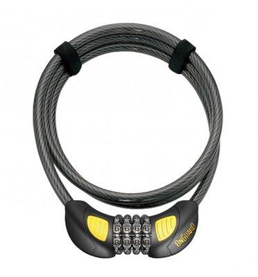 Велозамок кодовий Onguard 8064 TERRIER GLO Combo GLO 180см х 10мм Чорний LCK-81-82