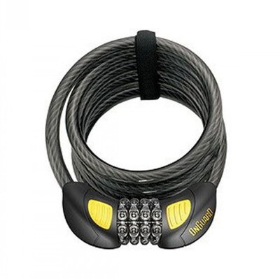 Велозамок кодовий Onguard 8031GLO DOBERMAN GLO 185см х 12мм Чорний LCK-21-63