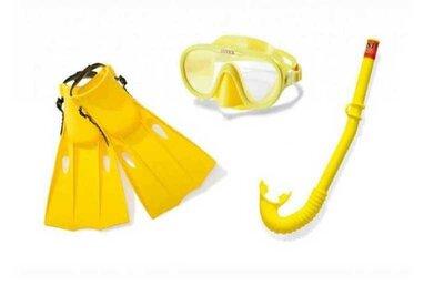 Intex Набор для плавания Маска Трубка Ласты от 8лет
