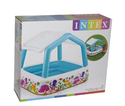 Надувной бассейн Семейный Intex 57470 Крыша