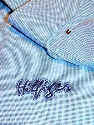 TOMMY HILFIGER Шикарная брендовая рубашка - 3 D принт - XL - L