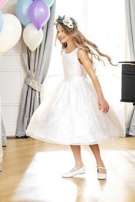 Нарядное белое платье на выпускной девочка Польша Cool Club. Святкове біле плаття дівчина 116 см