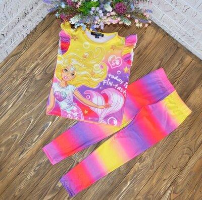 Костюм для девочки, популярный цвет тай-дай