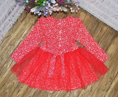 Супер цена Нарядное платье для девочки, фатиновая юбка снимается