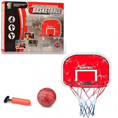 Баскетбольное кольцо на щите MR 0331 с мячом, насосом