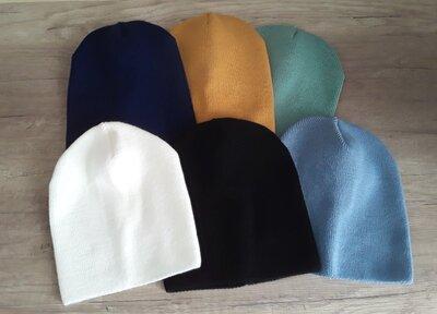 Базовые демисезонные шапочки для детей и подростков