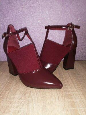 Туфли деми бордо, 38 размер