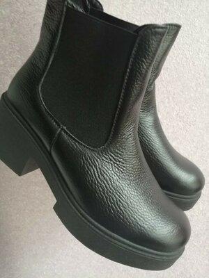 Классные ботинки челси деми натуральная кожа