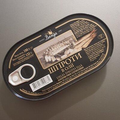 Шпроти Шпроты Banga в масле олії 190г 133г консерва салака риба рыба консервы консерви