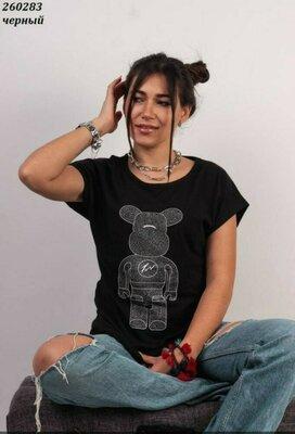 Стильная женская футболка , Качество Супер, размеры полномерные