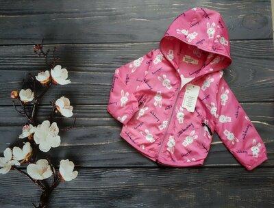 Очень красивая куртка ветровка для малышки Ткань плащевка, подклад котон Отличное качество,Турция