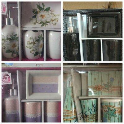 Керамические наборы для ванной, 4 предмета