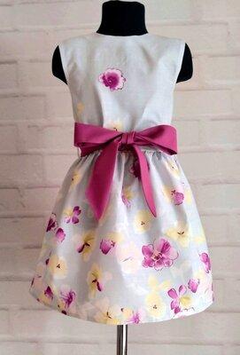 Нежно-Голубое платье для девочек на лето. детское платье 110-146рр