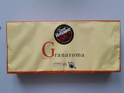 Кава мелена Vergnano granaroma miscela ricca 250г, Італія
