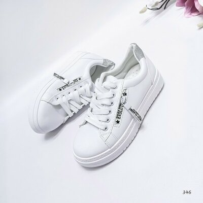 Код 346 Женские кроссовки Цвет - Белый Материал - иск.кожа Внутри текстиль