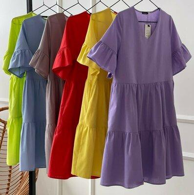 Продано: Платье лён 16 цветов 42 - 52