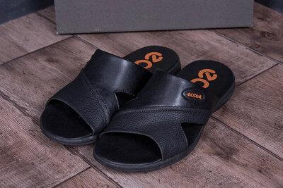 кожаные летние шлепанцы-сланцы Ecco 40-45 размер, новинка, в бассейн, на море, в баню, душ