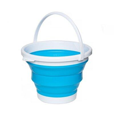 Ведро складное синее, круглое 10 литров md17013