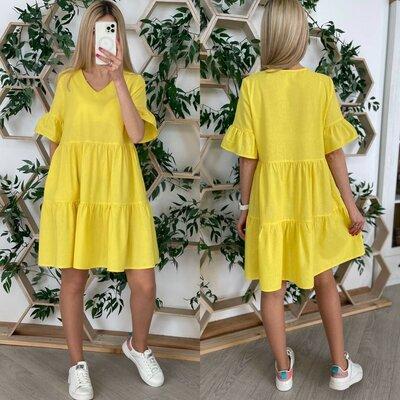 Модное женское платье свободного кроя