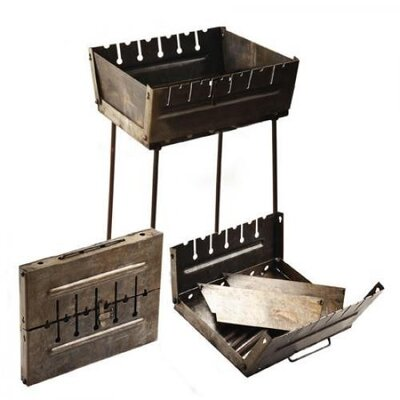 Мангал чемодан на 6 шампуров Stenson Ук-М-6 5х27х37 см