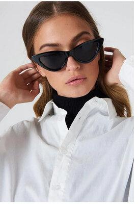 Солнцезащитные женские очки кошачий глаз - Черные