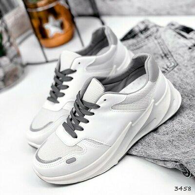 Продано: Кроссовки женские Shar белый серый Код 3458 Материал эко -кожа текстиль Цвет белый серый