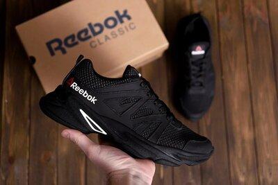 летние кроссовки сетка Reebok, 40-45 размер, кожа натуральная, новинка