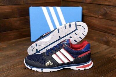 летние кроссовки сетка Adidas, 40-45 размер, кожа натуральная, новинка