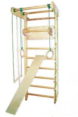 Шведская стенка ясень турник, доска, кольца, лестница, канат