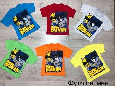 Детские футболки Бэтмен batman трикотаж кулир