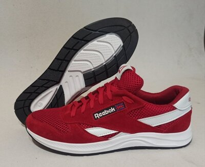 Мужские кроссовки Reebok model-R1, натуральная замша сетка