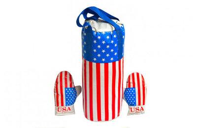 Детский боксерский набор Америка 0003DT Бол с перчатками